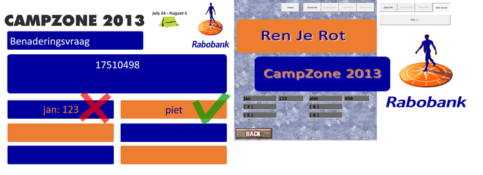 Softwareschermlayout (dualview met procesverloop)